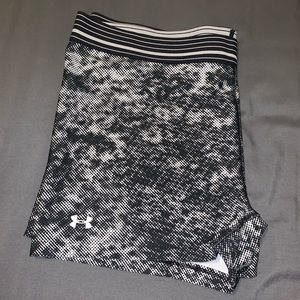 Black and white workout shorts
